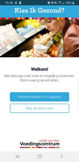 Kies ik Gezond app