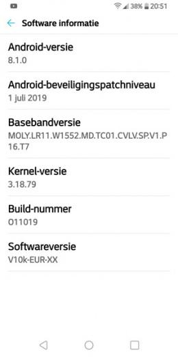LG Q7 beveiligingsupdate juli 2019