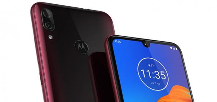 Persfoto's van nieuwe Motorola Moto E6 Plus met dual-camera