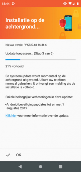 Motorola One augustus update