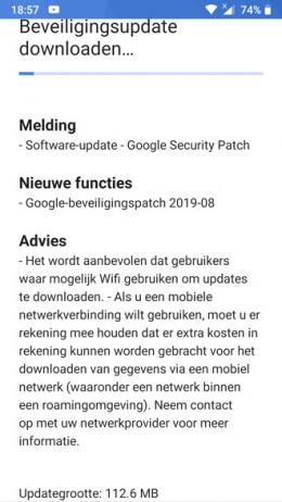 Nokia 6 beveiligingsupdate augustus 2019