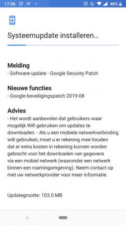 Nokia 6.1 beveiligingsupdate augustus 2019