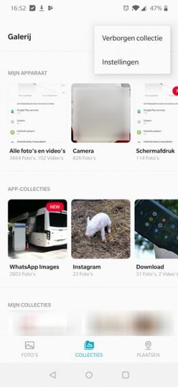 OnePlus galerij verborgen collectie
