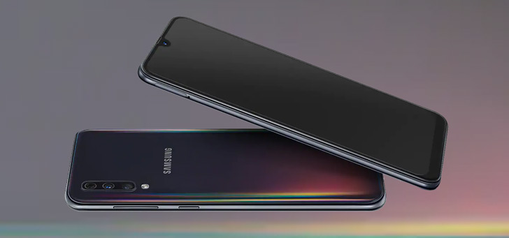 Samsung galaxy A50 header
