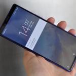 Sony Xperia 1 lockscreen