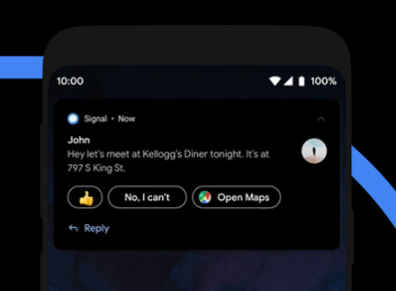 Android 10 notificatie