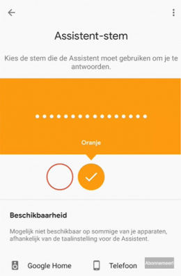 Google Assistent stem