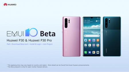 Huawei p30 EMUI 10 beta