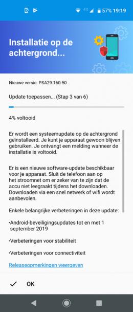 Motorola One Vision beveiligingsupdate september 2019