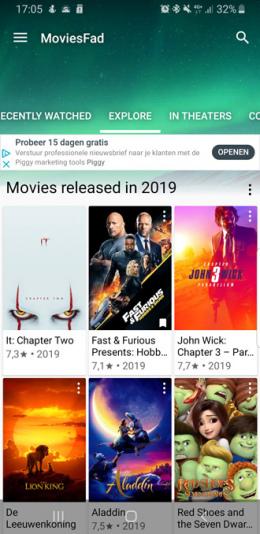 Moviesfad app