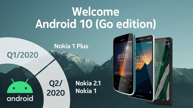 Nokia Android 10 Go Edition planning