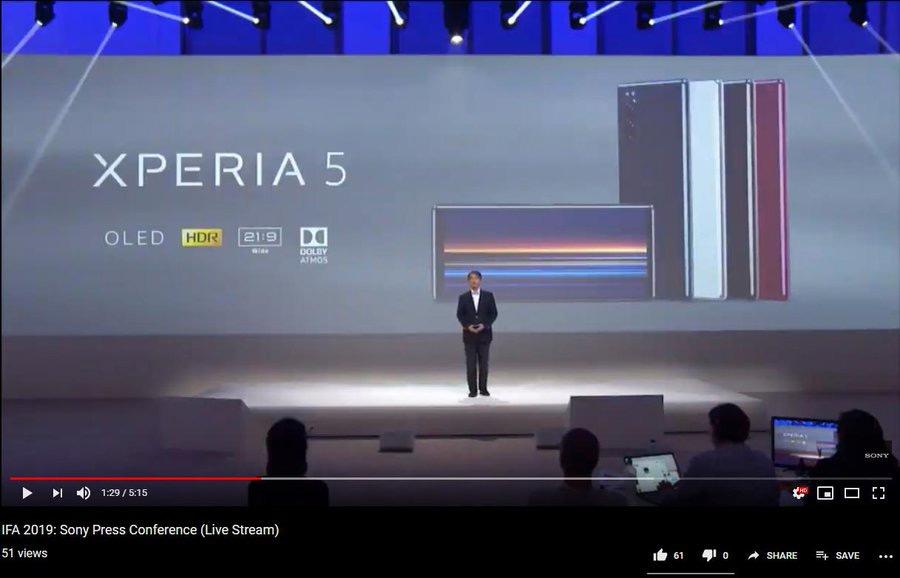 Xperia 5 keynote