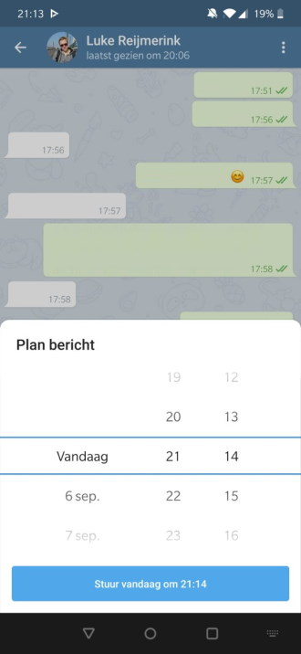 Geplande berichten in Telegram