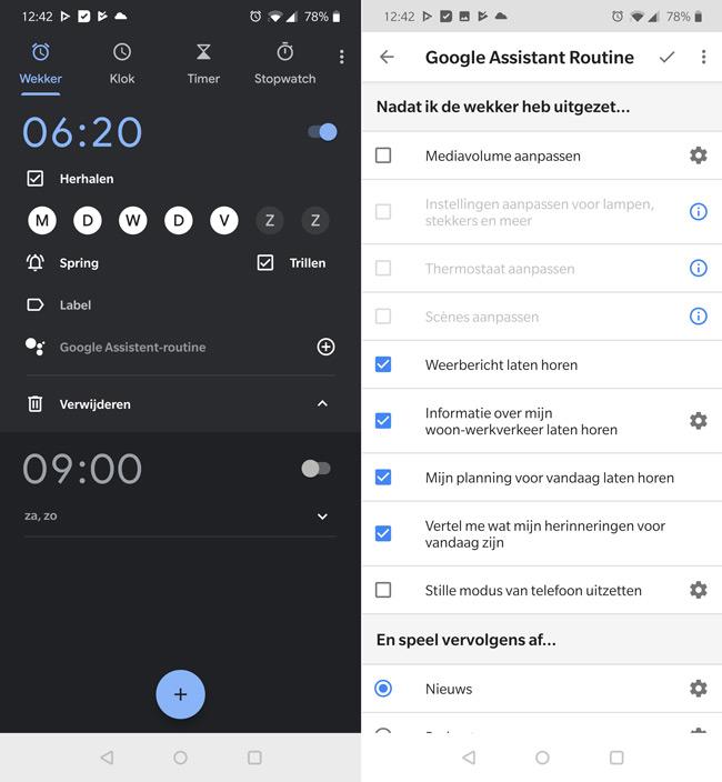 google klok routines