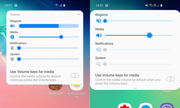 Galaxy S10 Android 10 volume