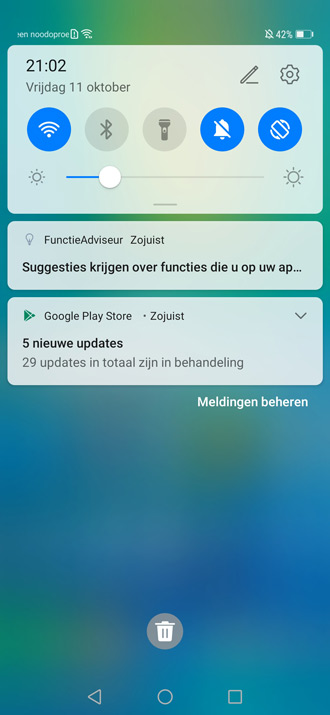 Huawei Mate 20 Pro Android 10 notificaties