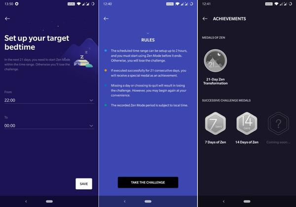 OnePlus Zen Mode sleep