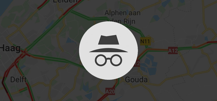 Google Maps incognito header