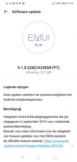 Huawei P20 Lite september patch