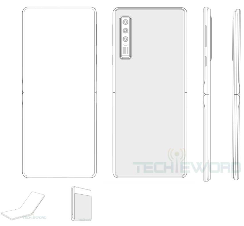 Huawei vouwbare smartphone patent