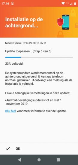 Motorola One november patch