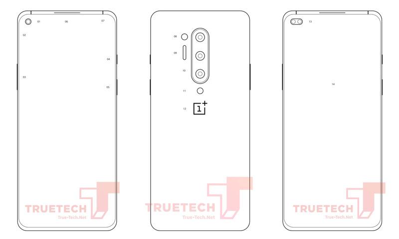 OnePlus 8 Pro schetsen