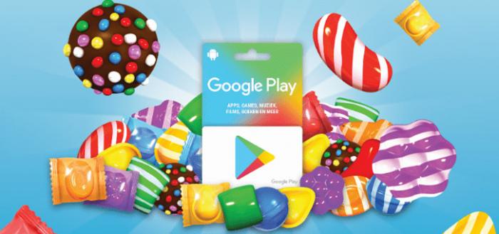 Google geeft gratis bonustegoed voor Candy Crush bij Play Gift Card