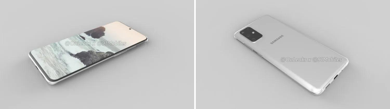 Samsung Galaxy S11 voor achter render