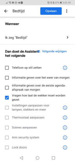 Google Assistent routines