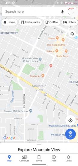 Google Maps nieuw design