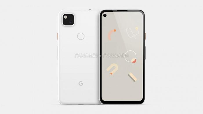 Google Pixel 4a renders