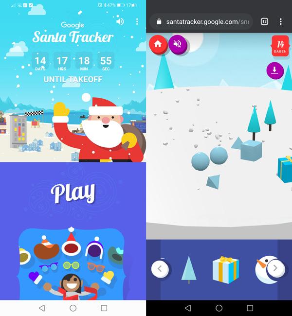 Google Santa Tracker app 2019