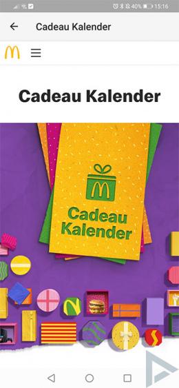 McDonald's Cadeau Kalender 2019