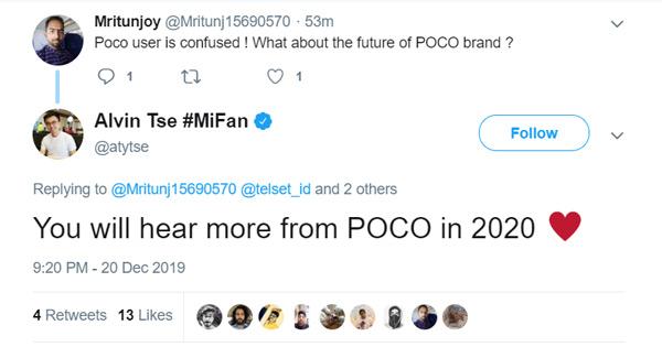 Pocophone F2 2020 twitter