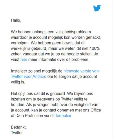 Twitter Android veiligheidsprobleem