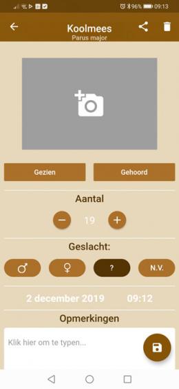 Veldgids app