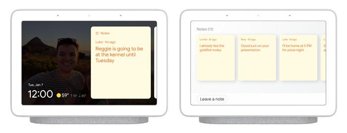 Google Assistent Smart Display notitie