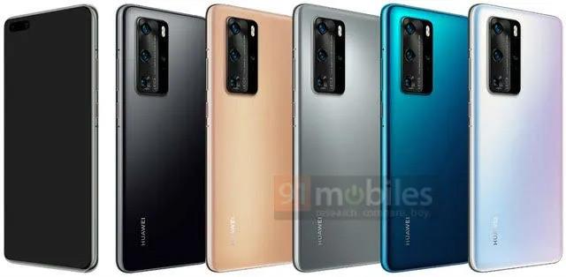 Huawei P40 Pro render kleuren