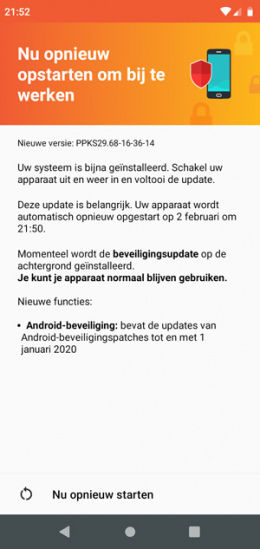 Motorola One beveiligingsupdate januari 2020