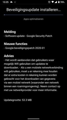 Nokia 6.1 Beveiligingsupdate januari 2020