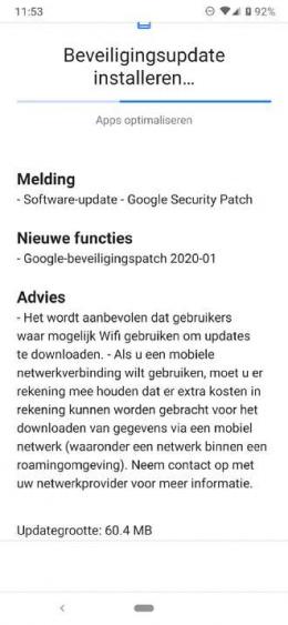 Nokia 6.2 beveiligingsupdate januari 2020