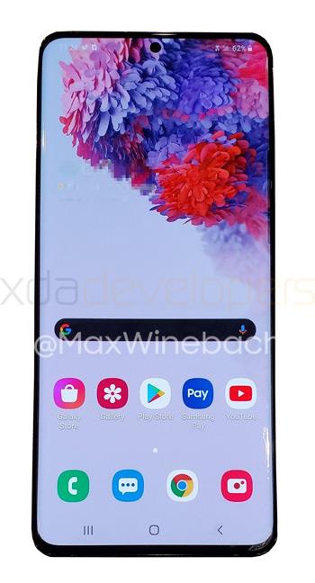 Samsung Galaxy S20+ voorkant