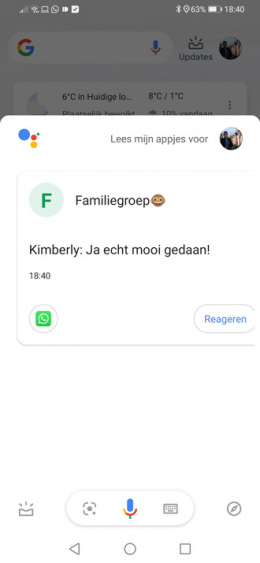 WhatsApp Google Assistent