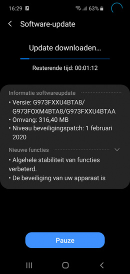 Galaxy S10 februari update