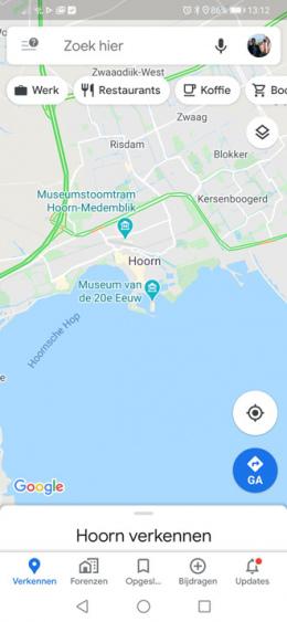 Google Maps 5 tabbladen