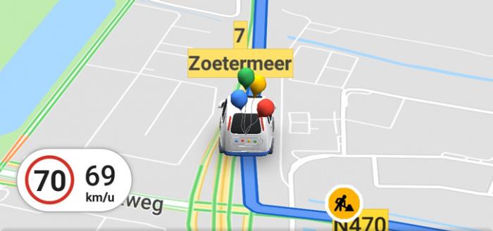 Google Maps voegt 'verjaardagsauto' toe bij navigeren