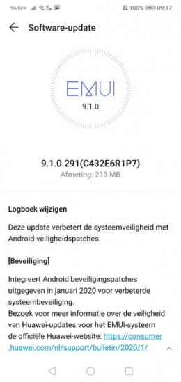 Huawei P20 Lite januari-patch