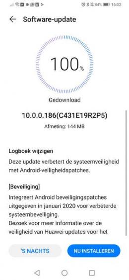 Huawei P30 pro januari-update