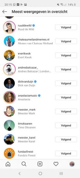Instagram ontvolg
