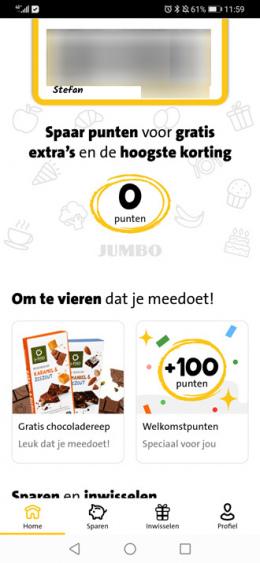 Jumbo Extra's app